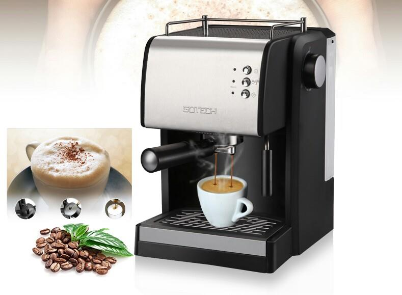 GoTech Coffee Machine Espresso Coffee Maker 15 Bar Semi(FREE Grinder)