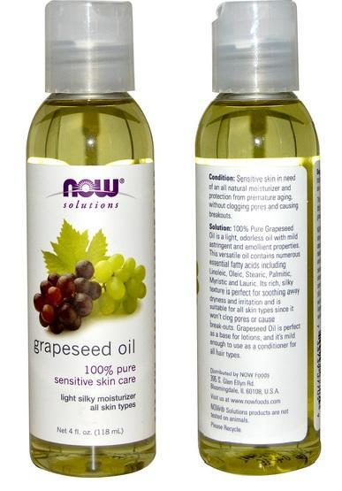 Grapeseed Oil, 100% PURE, Sensitive skin care, Made in USA (118ml)