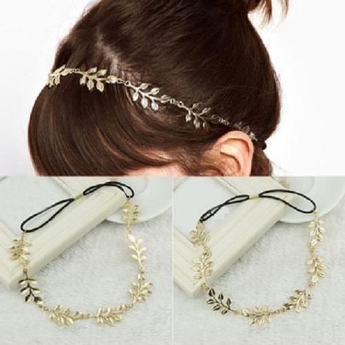 Greek Fashion Golden Leaves Leaf Headband Hair Bands