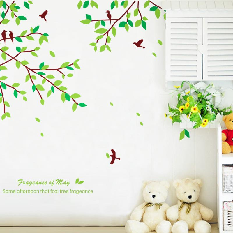 Green Leaves Wall Sticker W6018
