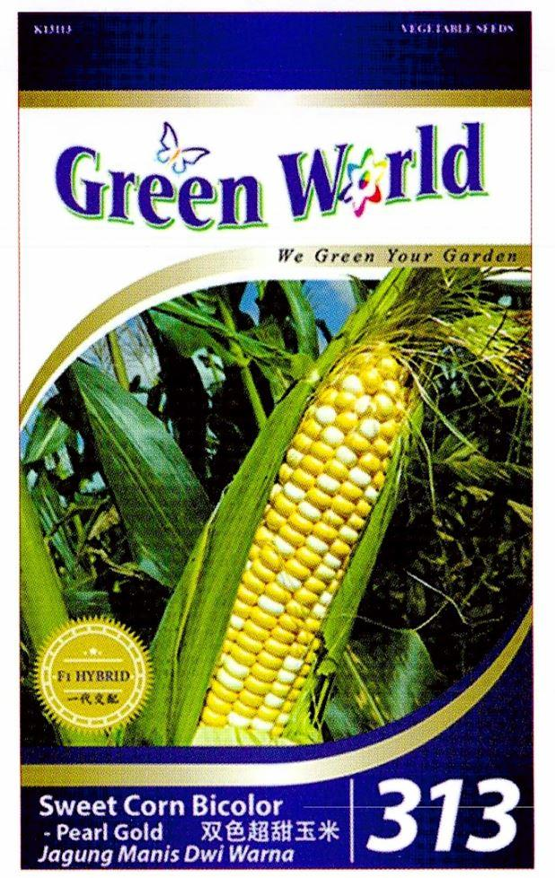 Green World Seeds F1 Jagung Manis Dwi Warna @Sweet Corn Bicolor - Pear