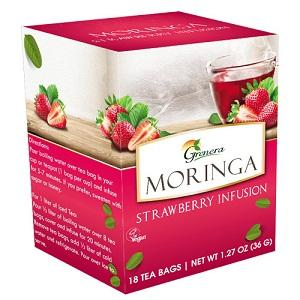 Grenera Moringa Strawberry Infusion - 20 bags x 40g
