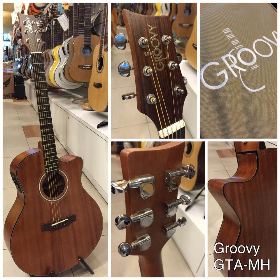 GROOVY 'G' SERIES GTA MAHOGANY ACOUSTIC GUITAR WITH BAG