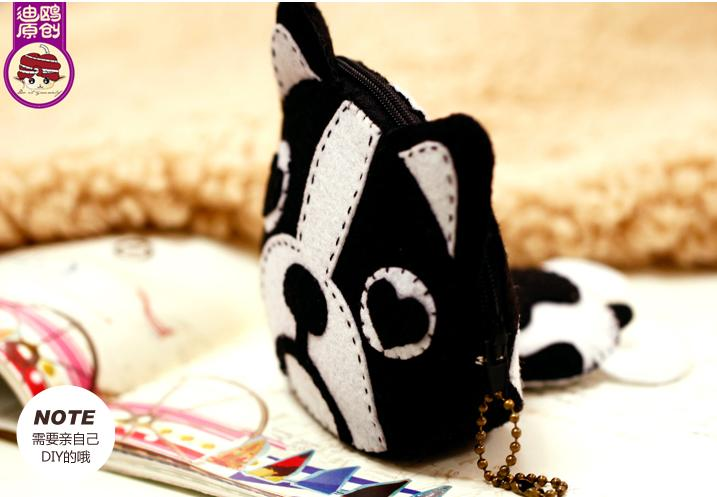 Guard Dog Keys Wallet Felt DIY Kits 保安小狗&#..