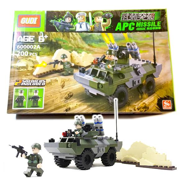 Gudi 600002A Military Tank 200Pcs Building Blocks Bricks 3D DIY toys