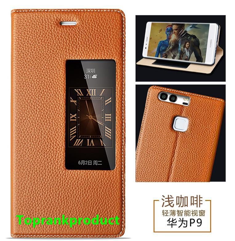 GVH Cow Leather Huawei Ascend P9 / Plus Flip Smart Case Cover Casing