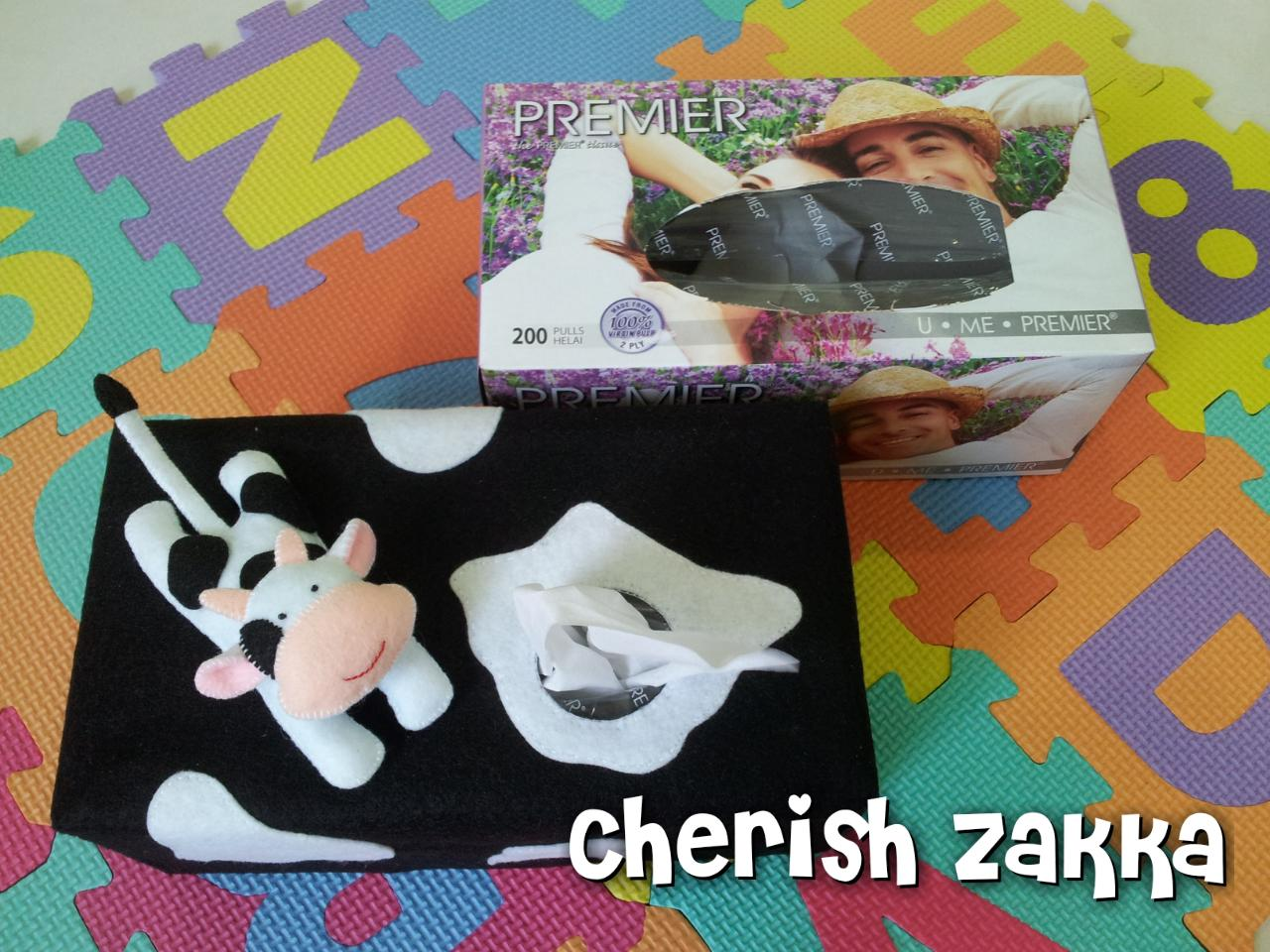 Handmade Little Moo Moo Cow Tissue Box Cover