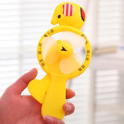 Happy Elephant Cartoon Hand Press Mini Fan
