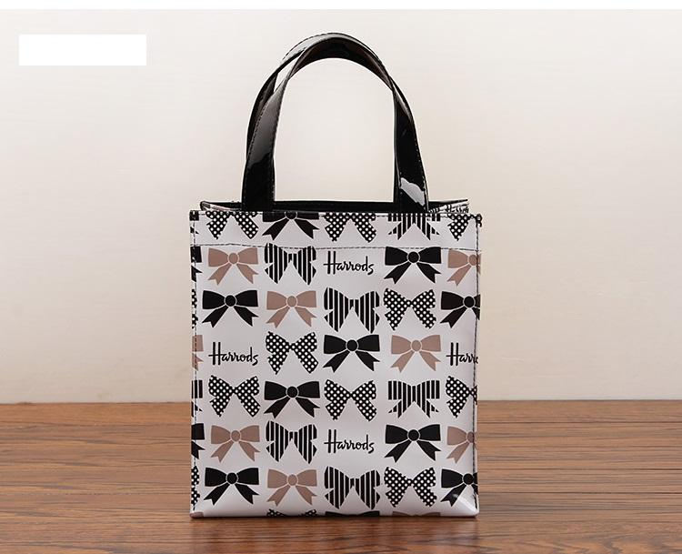 Harrods Bowknot Print PVC Small Carry Tote Bag