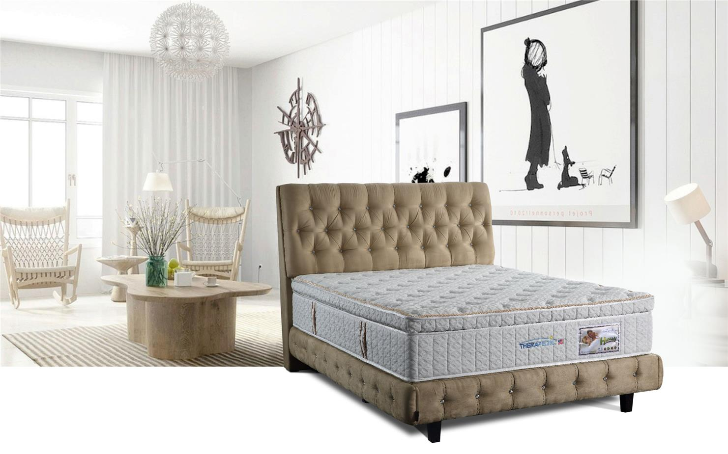 Hawaii 5' Queen Aerofoam THERAPEDIC Pocket Spring Mattress | Tilam