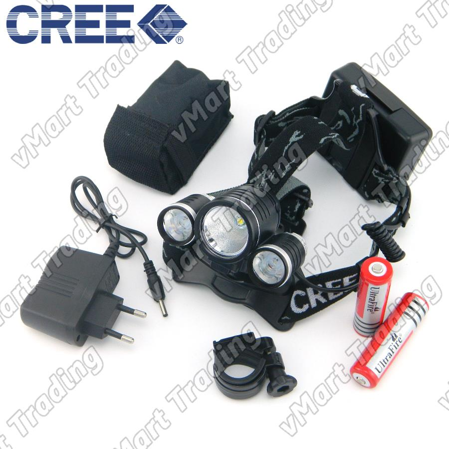 HBL-08TR CREE T6+R2 2-in-1 LED Headlamp and Bicycle Lamp