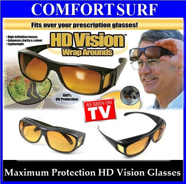 HD Vision Wrap Around Maximum Protection Driving Sunglass + FREE GIFT