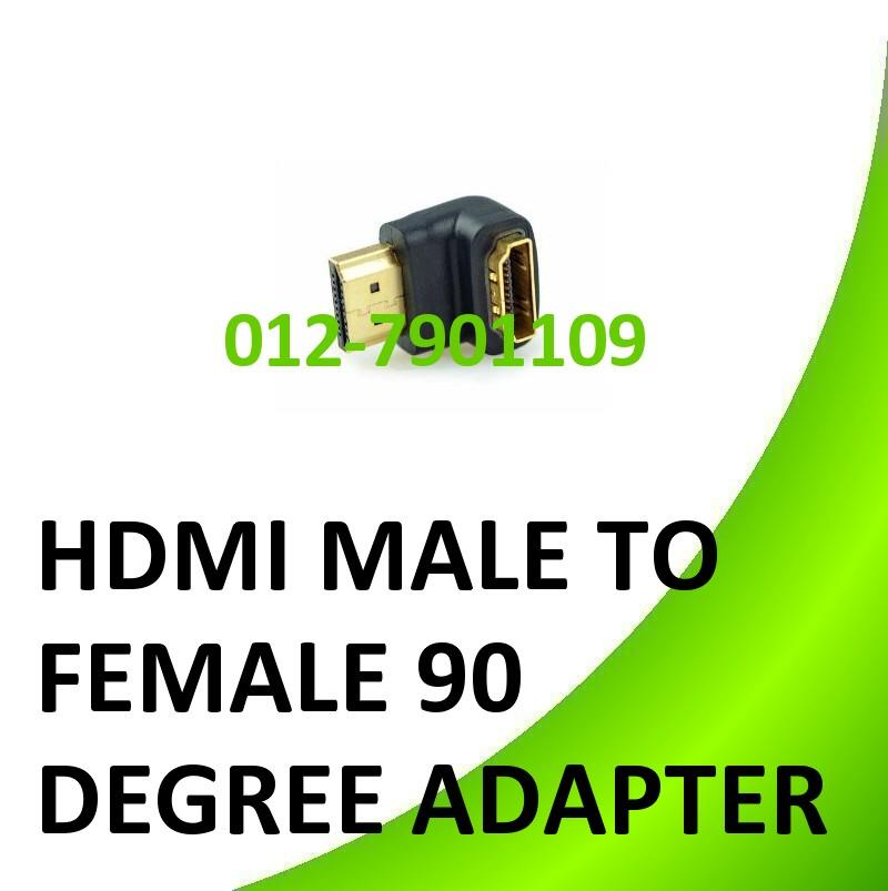 HDMI Female to HDMI Male 90 degree Adapter Extension