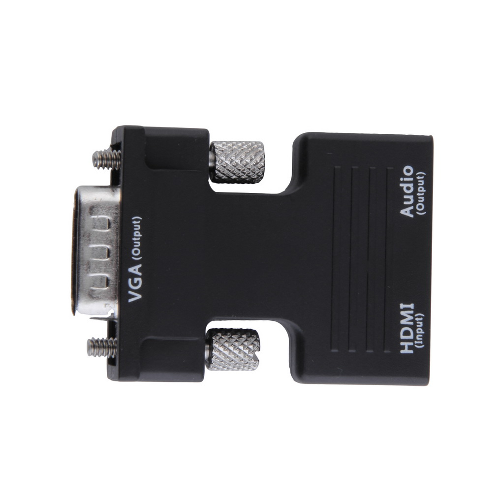 HDMI Female to VGA Male Converter+Audio Adapter 1080P Signal Output
