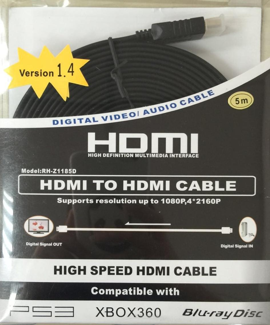 HDMI M TO HDMI M V1.4 FLAT CABLE 5M, 1755