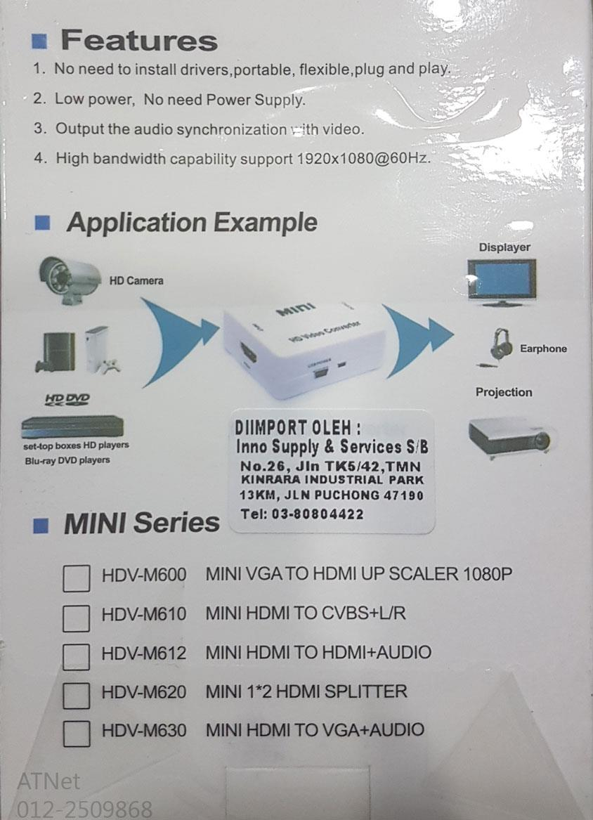 HDMI TO HDMI PLUS + AUDIO CONVERTER CO128