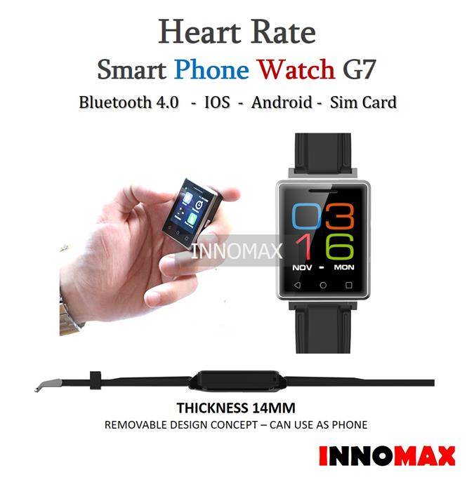 Heart Rate Smart Watch Phone G7 - Bluetooth Pedometer Stopwatch Phone
