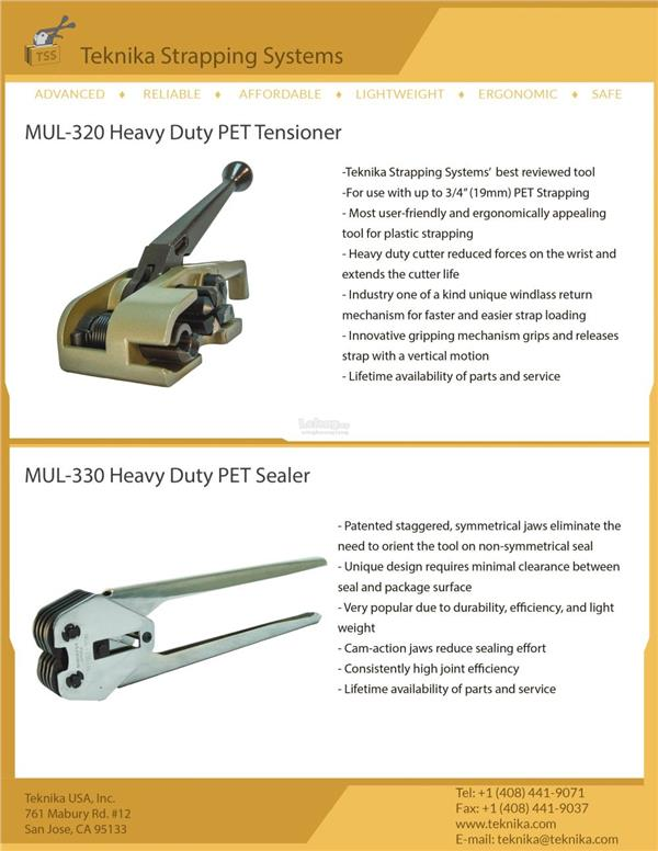 Heavy Duty Tensioner & Sealer Strapping Tools
