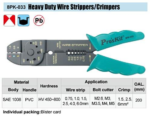 Heavy Duty Wire Strippers/ Crimpers PROSKIT 8PK-033