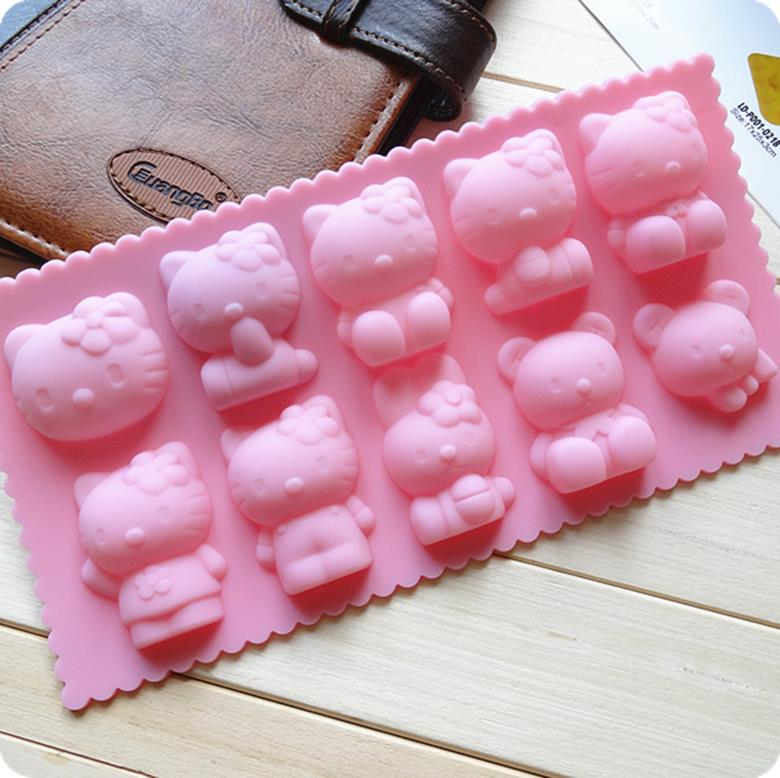 Hello Kitty / Bear / Rabbit Silicone Chocolate Mould
