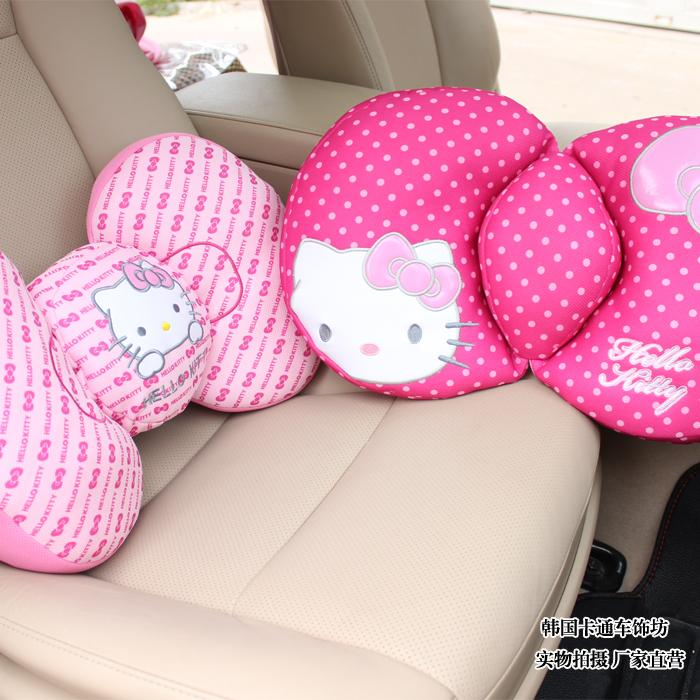 Hello Kitty Cute Car Back Cushion