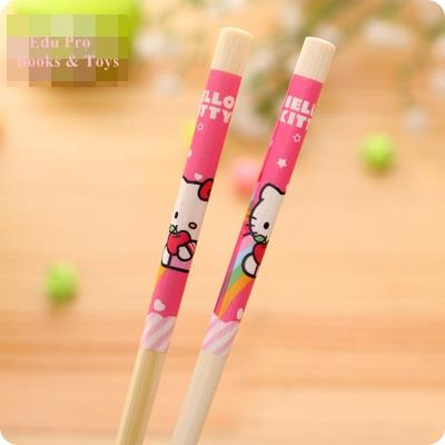 Hello Kitty Wooden Chopstick (Rainbow)