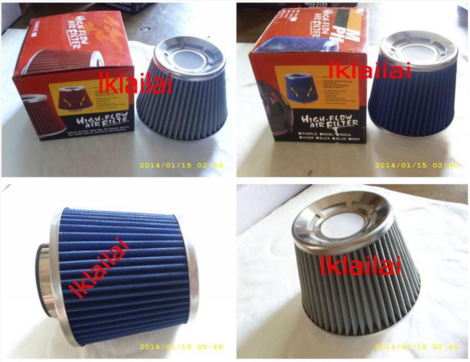 High Flow Stainless Steel Pod Air Filter 3 inch Diameter [Washable/Reu