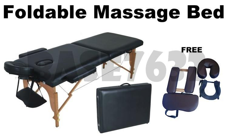 High Grade PU Portable Leather Folding Foldable Massage Bed  Table
