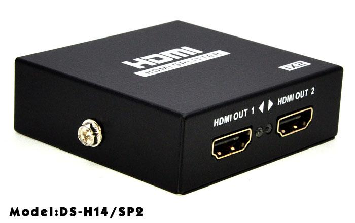 HIGH QUALITY 4K X 2K 3D HDMI 1 IN TO 2 OUTPUT SPLITTER V1.4 (H14/SP2)