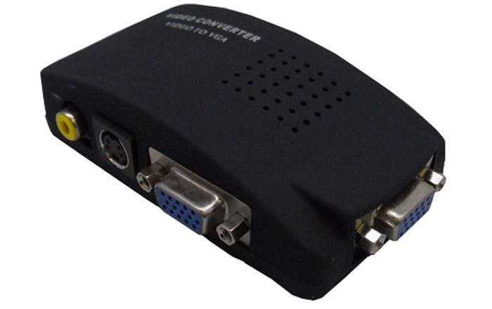 HIGH QUALITY AV RCA S-VIDEO TO VGA CONVERTOR (CON-RCA/VGA)