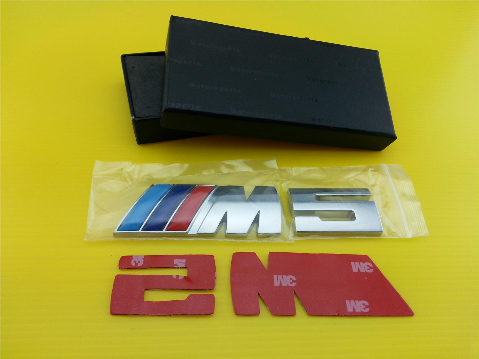 High Quality BMW M5 Rear TRUNK Emblem Badge. DIY