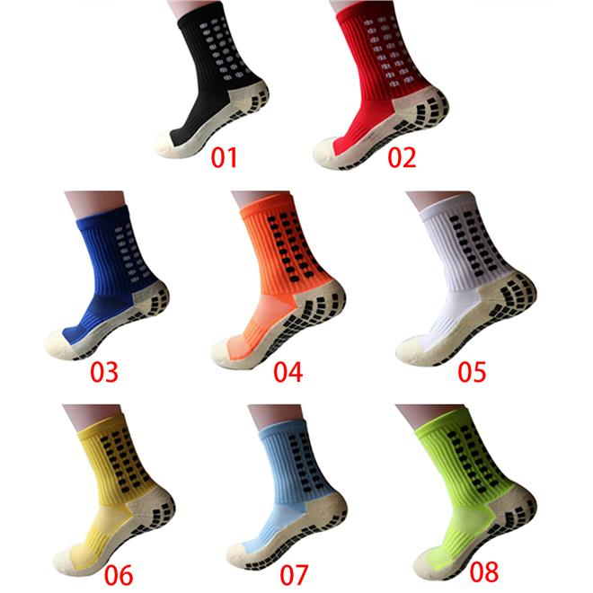High Quality Football Soccer Socks Anti Slip Cotton (White Color)