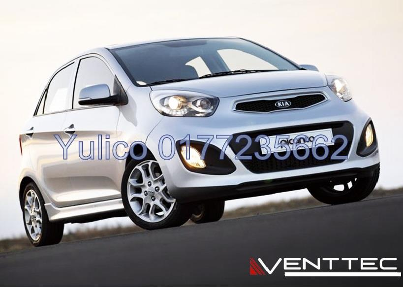 HIGH QUALITY KIA PICANTO DOOR/WINDOW VISOR FOR YEAR 12' & ABOVE