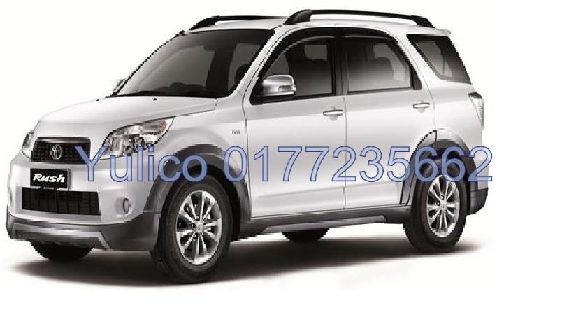 HIGH QUALITY TOYOTA RUSH (7 SEATER) DOOR VISOR YR '06 & ABOVE