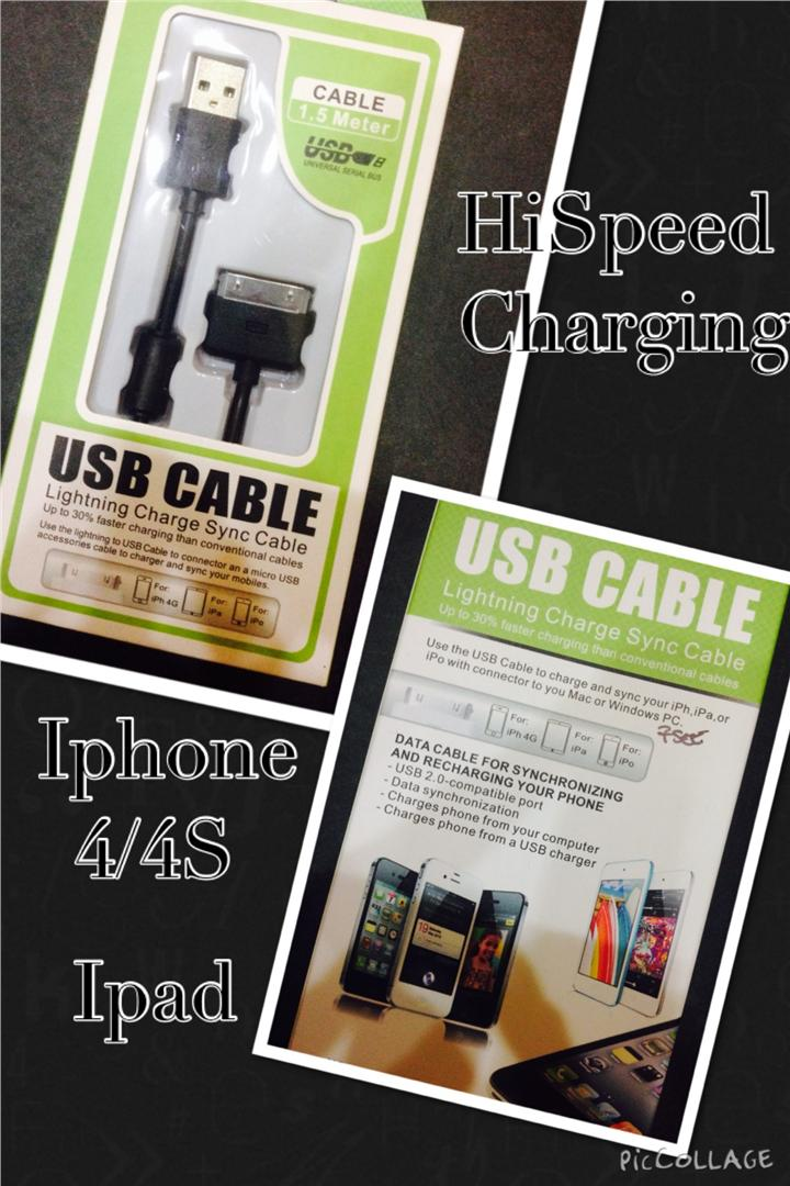 HiSpeed Data Cable For IPAD/IPhone (1.5 Meter).
