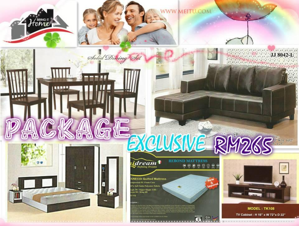 HOME FURNITURE 5 IN 1 SET PACKAGE EXCLUSIVE ONLY 265'PER-MONTH