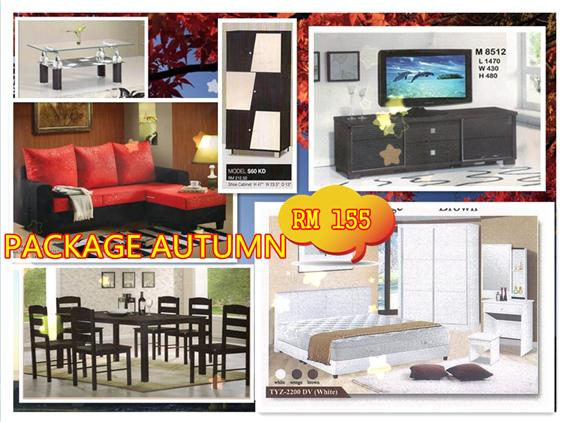 HOME FURNITURE 7 IN 1 SET PACKAGE AUTUMN ONLY 155'PER-MONTH
