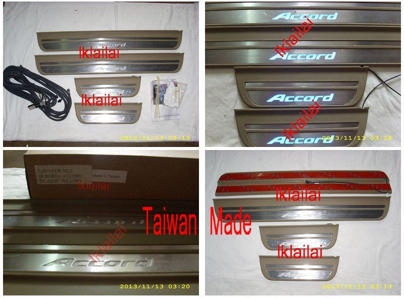 Honda ACCORD '08 Door/Side Sill Plate With LED Light [4pcs/set] Taiwan