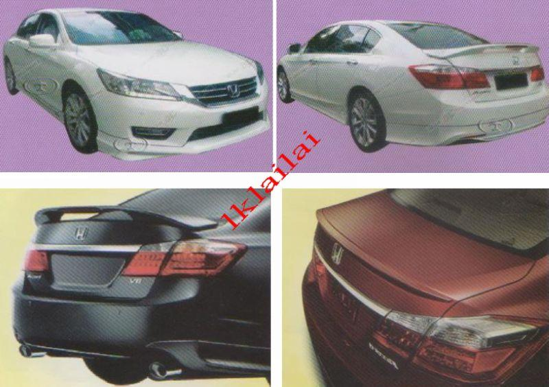 Honda Accord '13 Modulo Style Full Set Skirting+Spoiler Body Kit