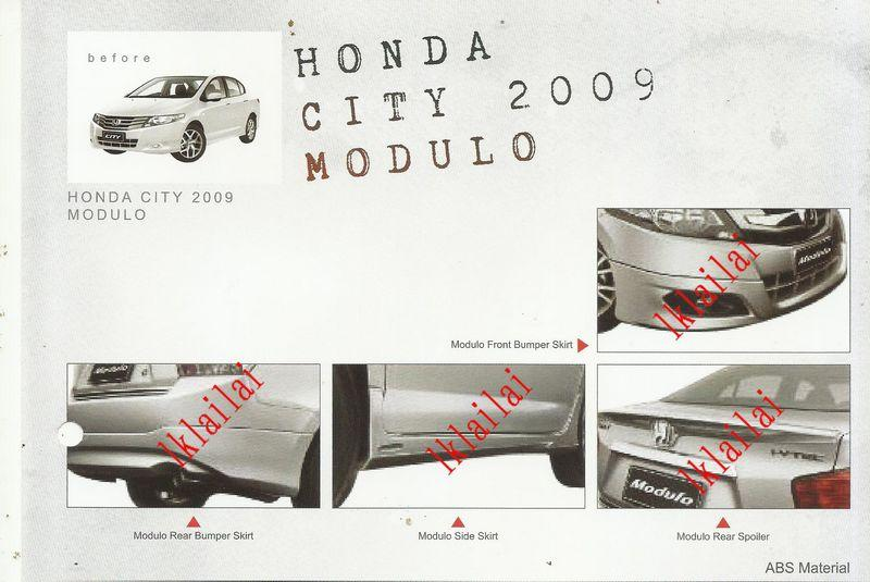 Honda City '09-11 /'12-13 Modulo Style Body Kit ABS Skirting + Spoiler