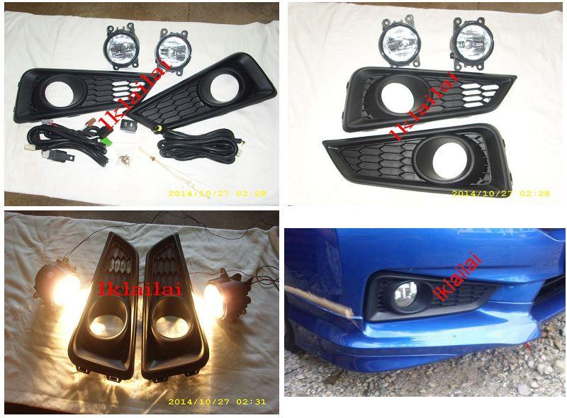 Honda City '14 Fog Lamp + Cover + Wiring & Switch