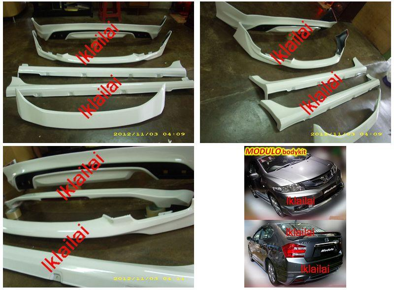 Honda City 2012 Modulo Style Full Set Body Kit PP + Painted Taiwan