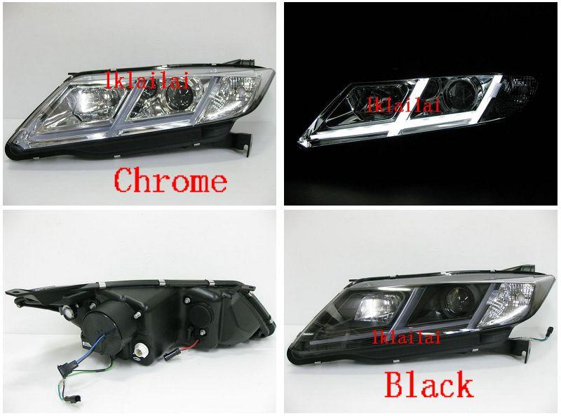 HONDA City 2014-2015 u style projector head lamp LED DRL R8