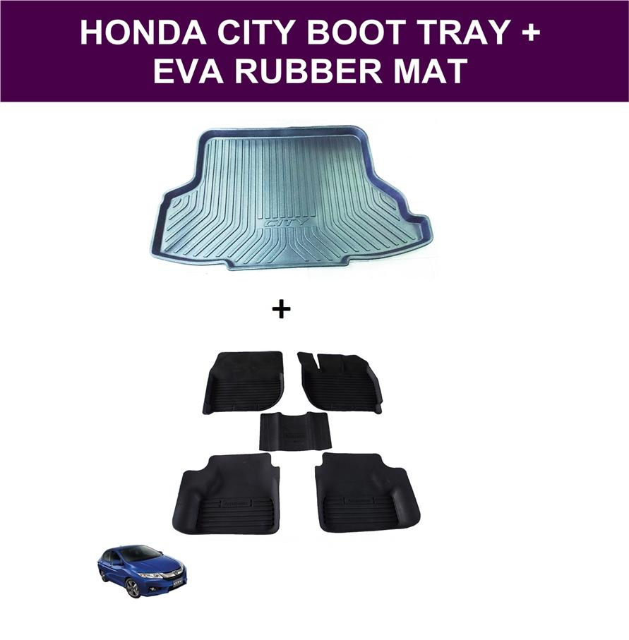Honda City 2014-2016 Cargo Boot Tray + EVA Rubber Mat