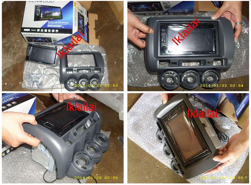 Honda City / Jazz / Fit '05 Double Din Casing w Kenwood DVD Player