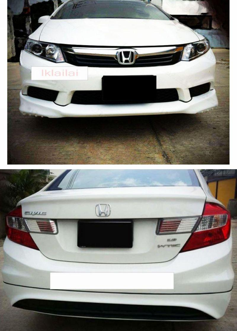 Honda Civic 12 Mugen Style Full Set Body Kit ABS+RR Spoiler Painted