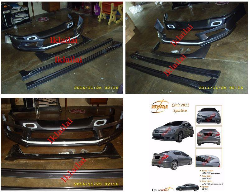 Honda Civic 2012 Sportivo Style Full Set Body Kit PU Painted
