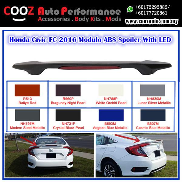 HONDA CIVIC FC 2016 MODULE ABS SPOILER WITH LED