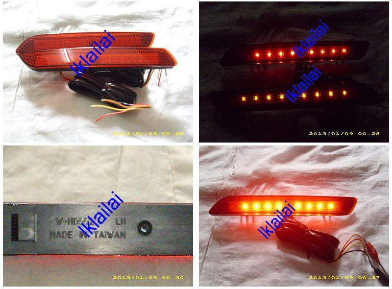 Honda CRV 3.5  '10-11 Rear Bumper Reflector LED Light [Red/Smoke]