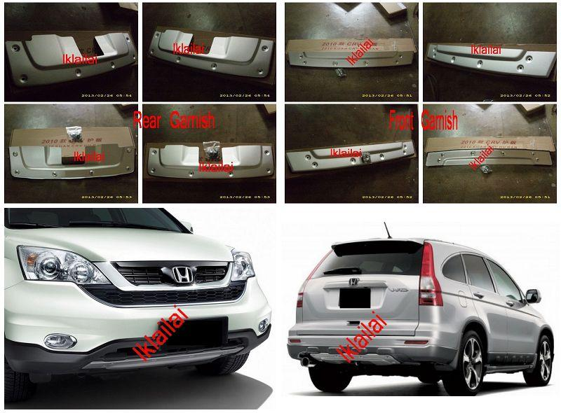 Honda CRV Facelift '10 Front & Rear Garnish Plate [Limited Edition]